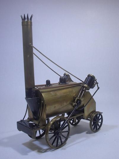 初公開展示蒸気機関車その3、ロケット号